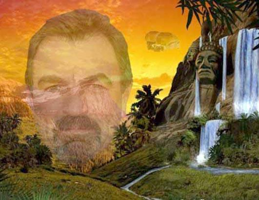 Selleck Waterfall Sandwich. Tom Selleck Waterfall