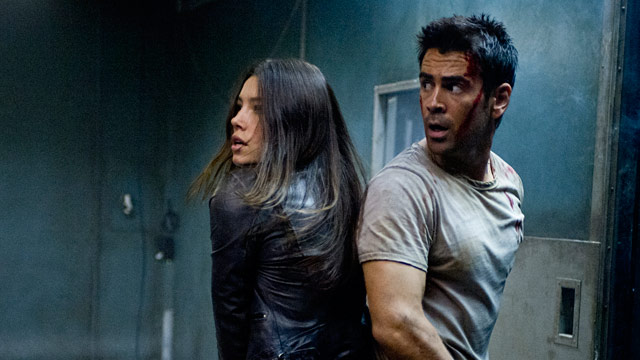 PHOTO: Jessica Biel and Colin Farrell in 'Total Recall'
