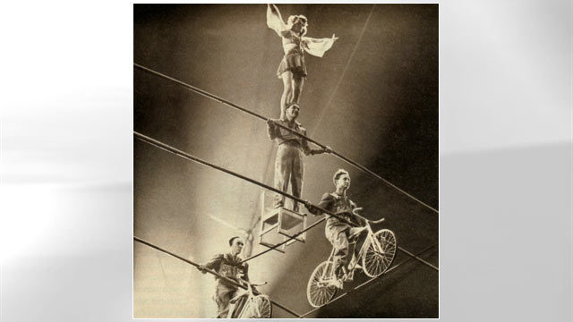 PHOTO: Building human pyramids upon high wires became Wallenda patriarch Karl Wallenda's signature act.