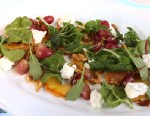 Tyler Florence's kale salad with green apple, walnuts and roasted grape vinaigrette is shown here.
