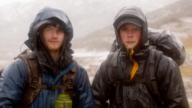 PHOTO: Dallas and Tyrell Seavey pose for a picture at Strandline Lake, Alaska.