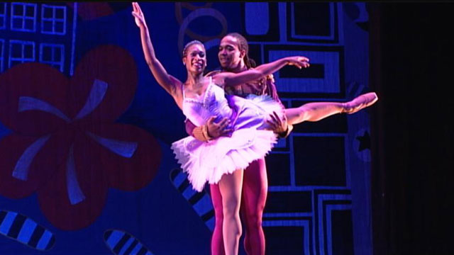 "PHOTO: BalletRox dance company's ""Urban Nutcracker,"" fusing the classic score of Tchaikovsky with the jazz beats of Duke Ellington."