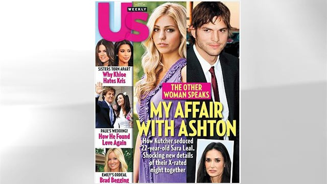 ashton kutcher and sara leal appear on the latest issue of us weekly ...