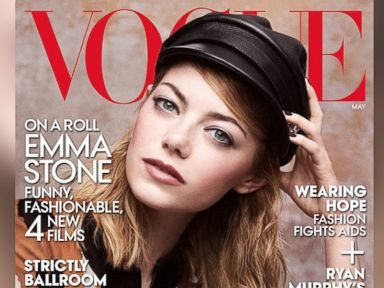 PHOTO: Emma Stone on the May 2014 cover of Vogue magazine.