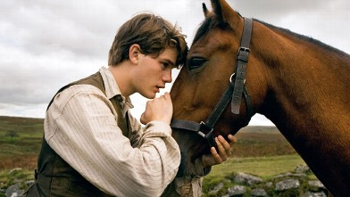 PHOTO: Albert (Jeremy Irvine) and his horse Joey are featured in this scene from DreamWorks Pictures' &quot;War Horse&quot;.