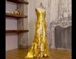 PHOTO: Zac Posen designed a gold dress worth $1.5 million inspired by Magnum Gold ice cream.
