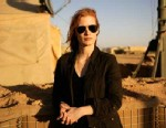 "PHOTO: Jessica Chastain playing a member of the elite team of spies and military operatives stationed in a covert base overseas who secretly devoted themselves to finding Osama Bin Laden in Columbia Pictures gripping new thriller, ""Zero Dark Thirty."""