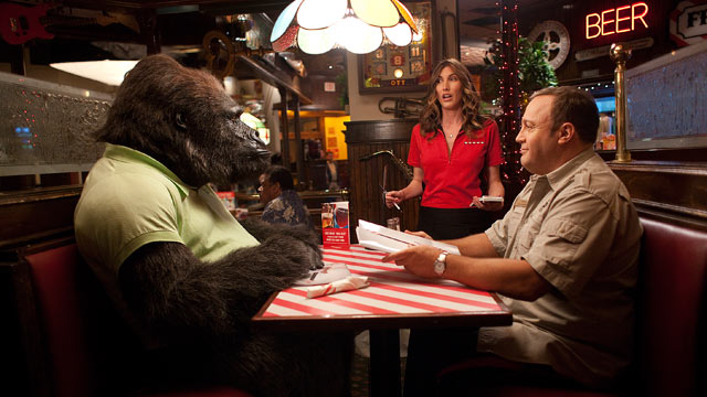 "PHOTO: Kevin James, right, and Jackie Sandler star in ""Zookeeper."""