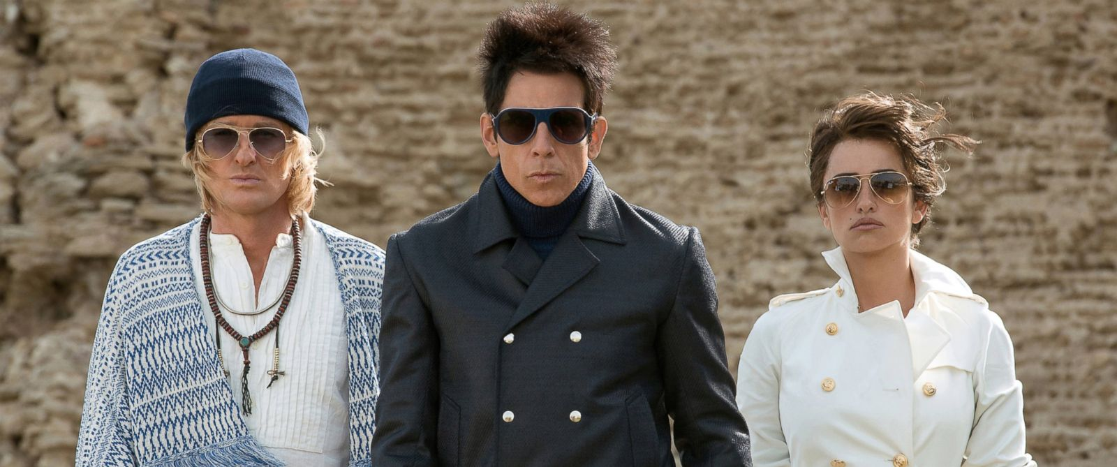 "PHOTO:Owen Wilson as Hansel, Ben Stiller as Derek Zoolander and Penelope Cruz as Valentina Valencia in a scene from ""Zoolander 2."""