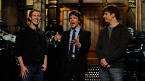 PHOTO Mark Zuckerberg, Jesse Eisenberg, Andy Samberg star in Saturday Night Live,