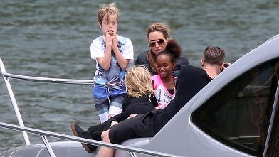 Shiloh Jolie-Pitt Makes a Funny Face