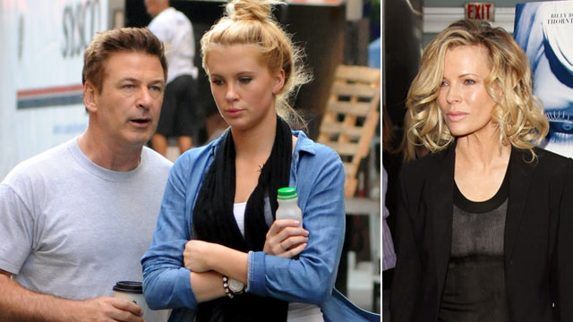 PHOTO: Alec Baldwin with his daughter Ireland Baldwin, left, and Kim Basinger at the Los Angeles Premiere of &quot;The Informers&quot;, April 16, 2009 in Hollywood.