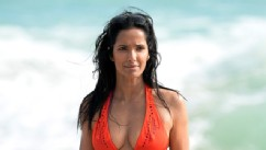 Wow! Padma Lakshmi Rocks an Orange Bikini