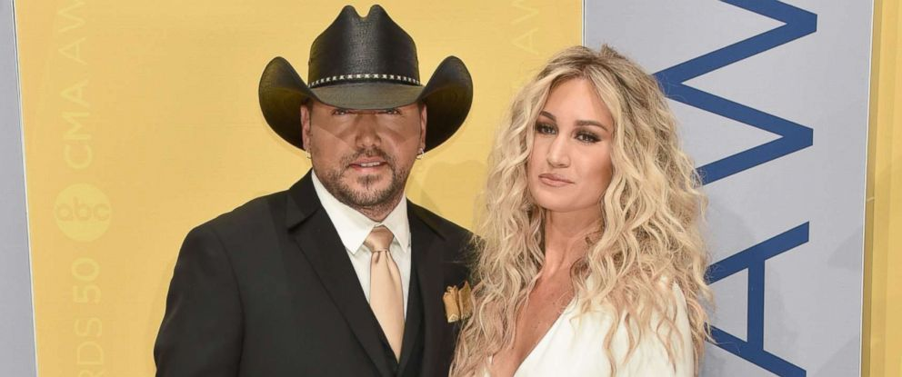 PHOTO: Jason Aldean and Brittany Kerr attend the 50th annual CMA Awards at the Bridgestone Arena, Nov. 2, 2016 in Nashville, Tenn.