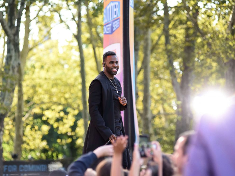 PHOTO: Jason Derulo performs at the Good Morning America, summer concert series Sept. 1, 2017, in New York City.