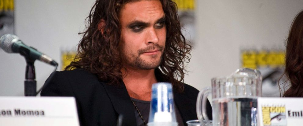 "PHOTO: Jason Momoa of ""Game of Thrones"" speaks during day one of Comic-Con 2011 held on July 21, 2011, in San Diego."