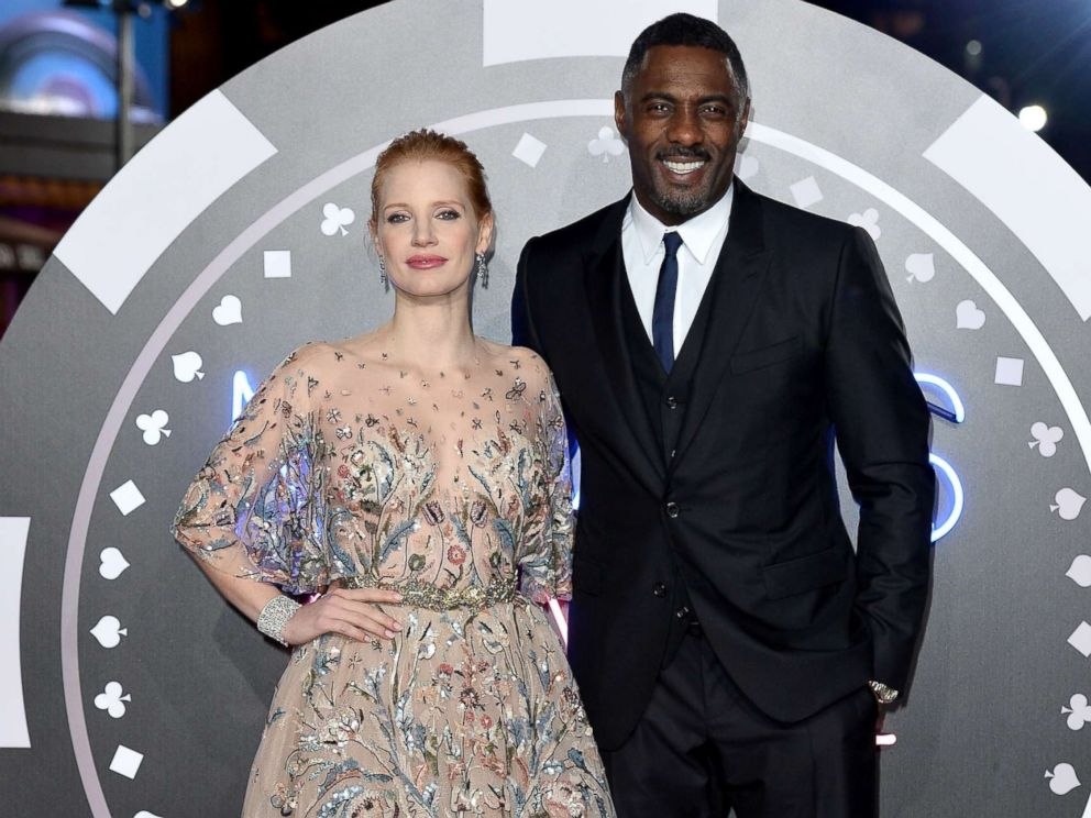 PHOTO: Actors Jessica Chastain and Idris Elba attend the Mollys Game UK premiere held at Vue West End, Dec. 6, 2017, in London.