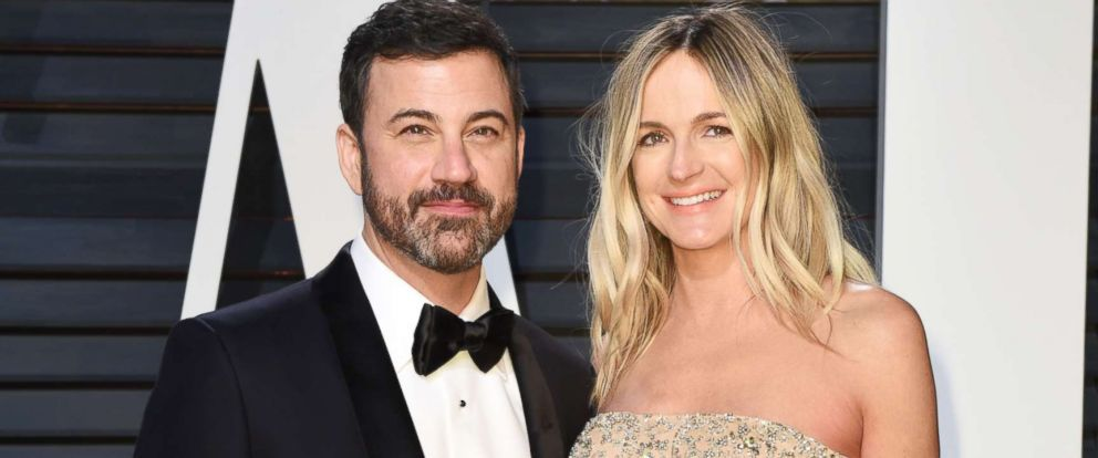 PHOTO: Television host Jimmy Kimmel and Molly McNearney attend the 2017 Vanity Fair Oscar Party hosted by Graydon Carter at Wallis Annenberg Center for the Performing Arts, Feb. 26, 2017, in Beverly Hills, Calif.