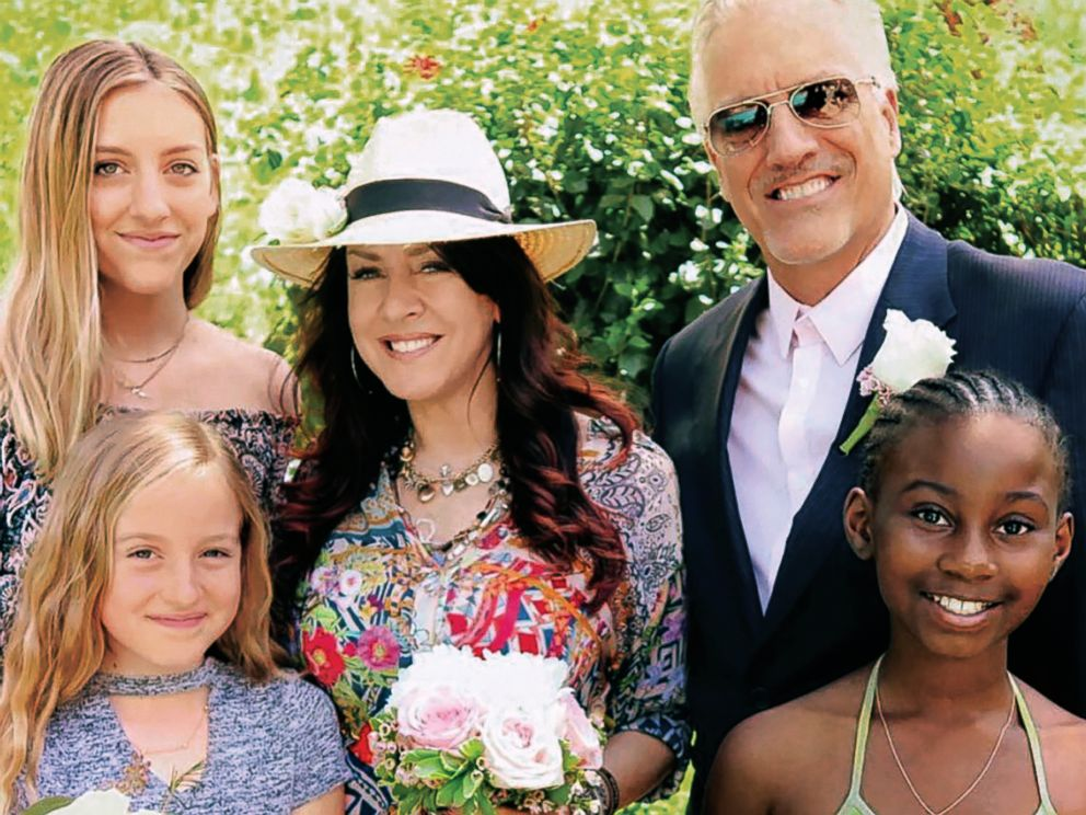 PHOTO: Joely Fisher poses with her daughters and husband, Christopher Duddy, in this undated family photo.