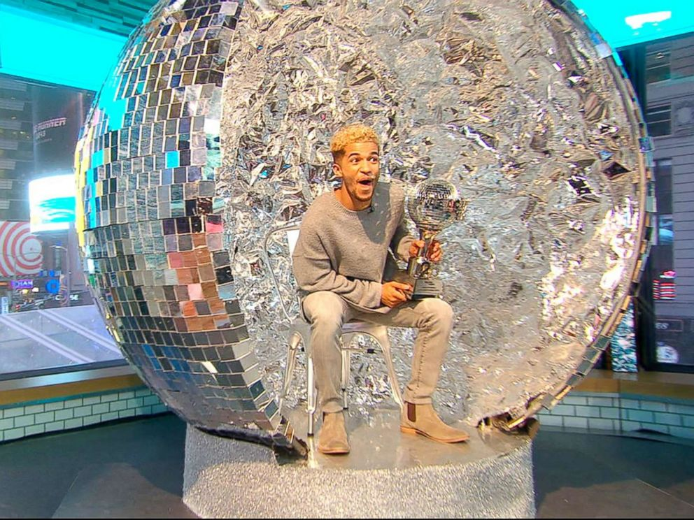 PHOTO: Dancing With the Stars season 25 winner Jordan Fisher cant wait to use his Mirror Ball Trophy as the Thanksgiving table centerpiece.