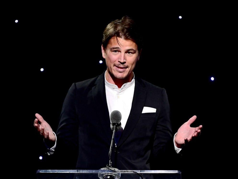PHOTO: Josh Hartnett speaks at an event on November 2, 2017 in Hollywood, California