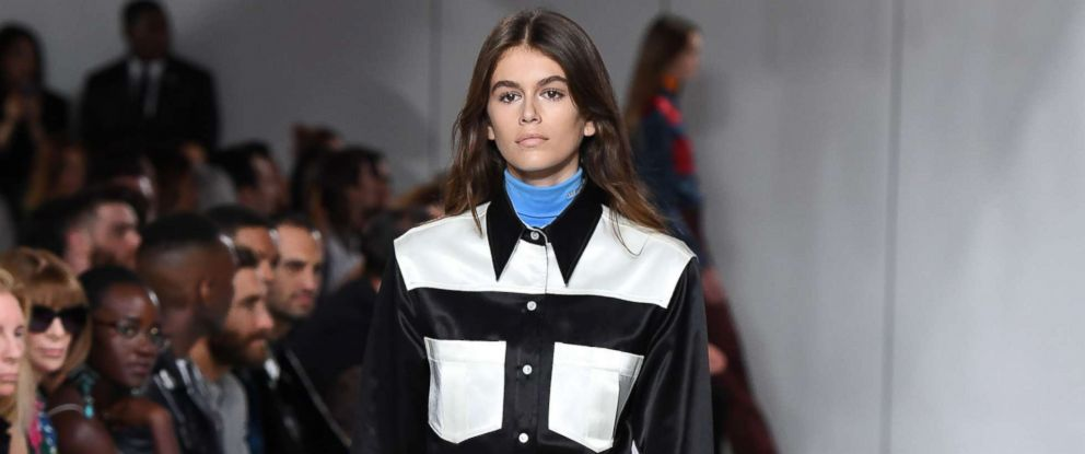 PHOTO: Model Kaia Gerber walks the runway for the Calvin Klein Collection fashion show during New York Fashion Week, Sept. 7, 2017, in New York City.