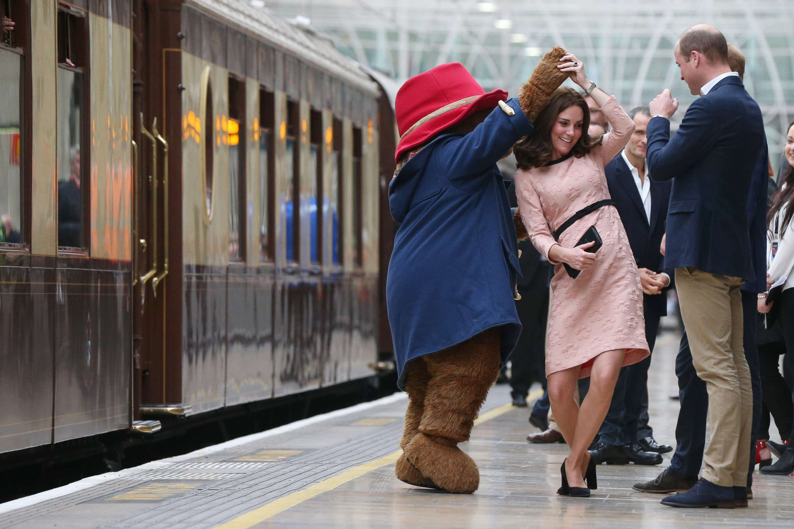 Duchess Kate dances with Paddington Bear