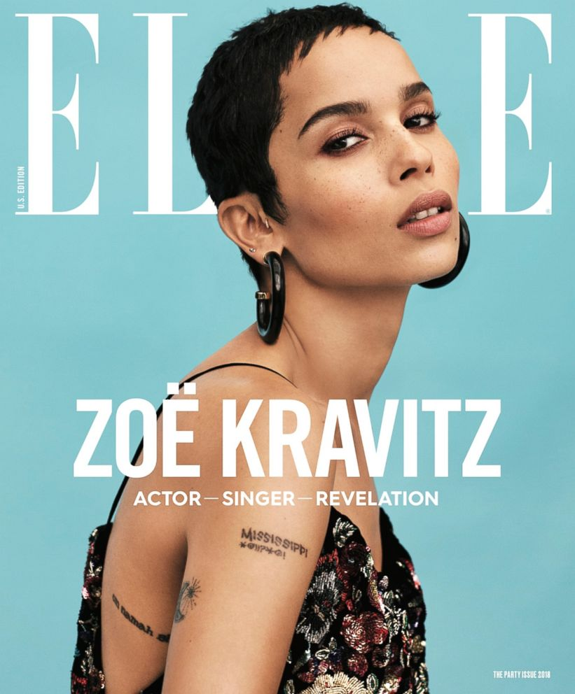 PHOTO: Zoe Kravitz is the cover story for the January issue of Elle magazine.
