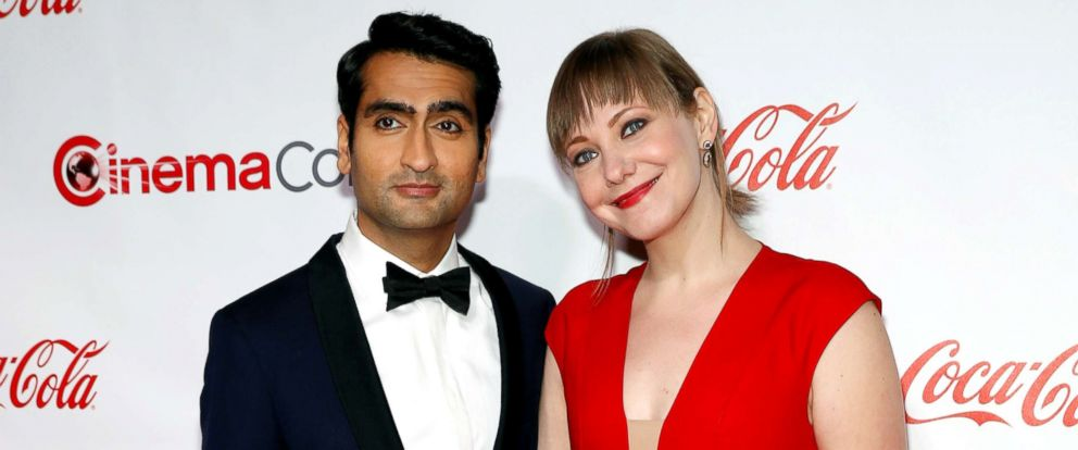 PHOTO: Kumail Nanjiani and Emily V. Gordon pose on the red carpet during CinemaCon in Las Vegas, March 30, 2017.