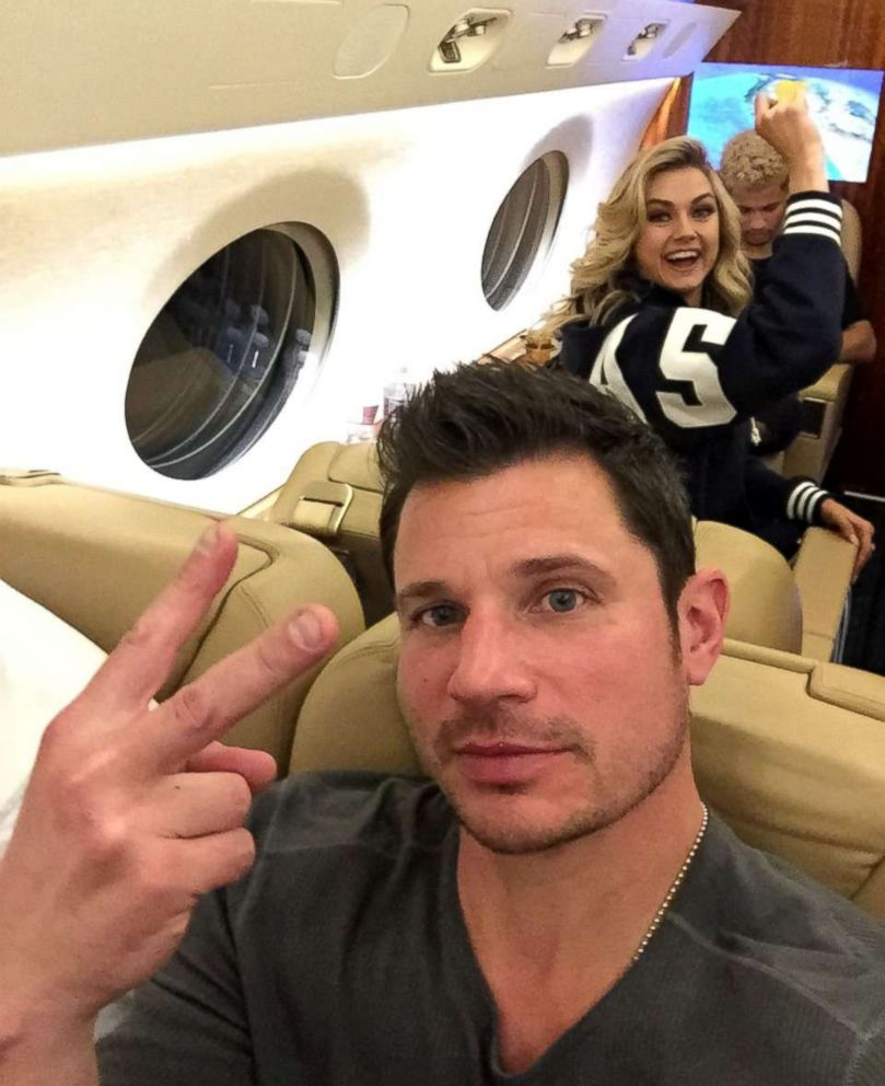 PHOTO: Nick Lachey was onboard with Lindsay Arnold and Jordan Fisher.