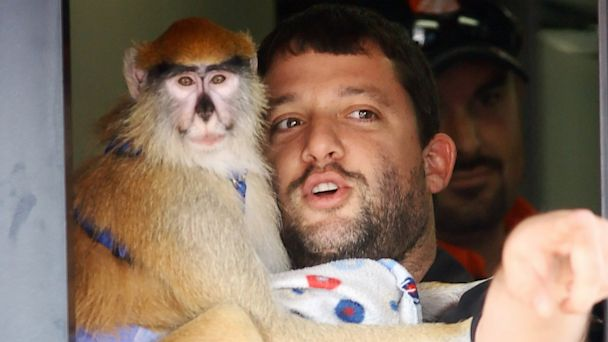 PHOTO: Tony Stewart and monkey