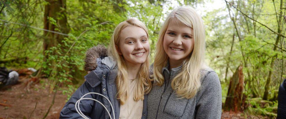 """PHOTO: Alana Boden, left, with Elizabeth Smart on the set of """"I Am Elizabeth Smart."""""""
