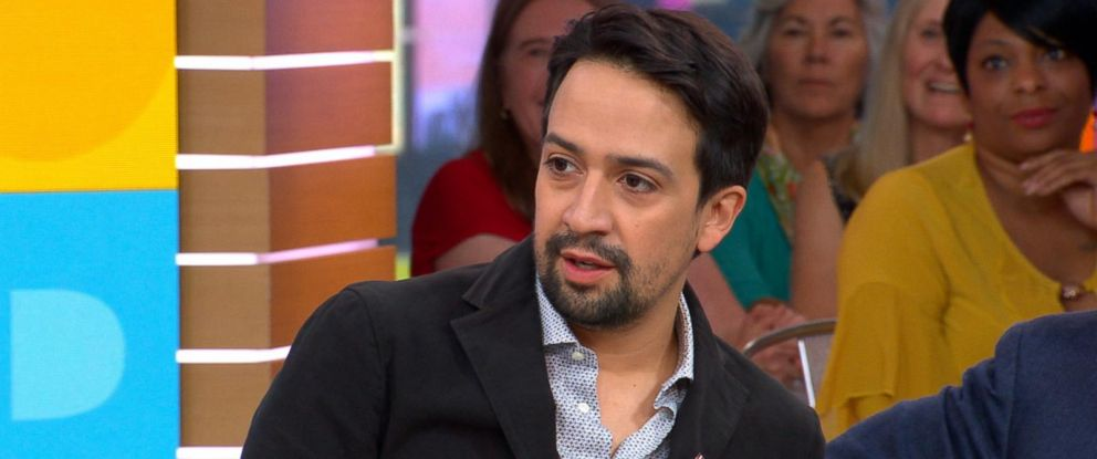 """PHOTO: Lin-Manuel Miranda appears on """"Good Morning America,"""" Oct. 6, 2017, to discuss his new song, """"Almost Like Praying,"""" to support hurricane relief in Puerto Rico."""