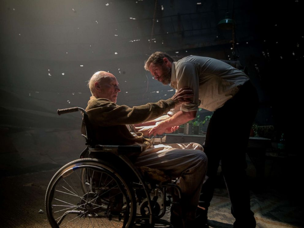 PHOTO: Charles (Patrick Stewart) and Logan (Hugh Jackman) in LOGAN.