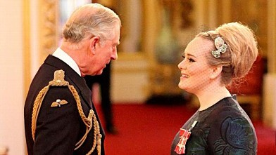 Regal Adele Meets Prince Charles!