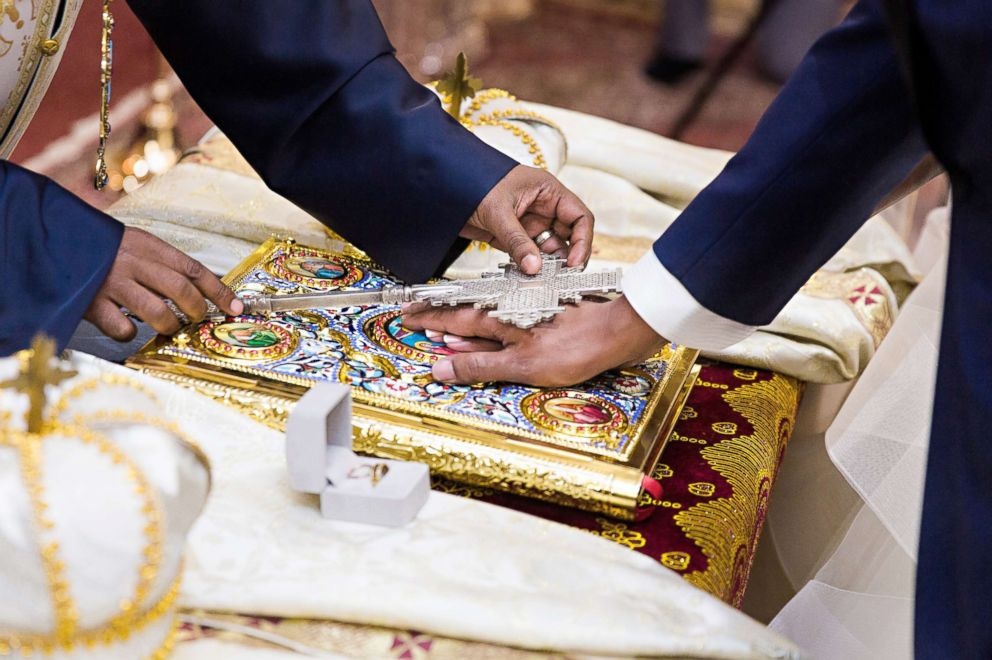 PHOTO: A moment at the Sept. 9, 2017 wedding of Ethiopian prince, Joel Makonnen, and his bride, Ariana Austin.