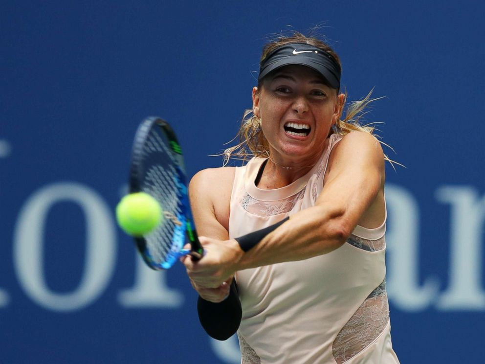 PHOTO: Maria Sharapova of Russia returns a shot during her womens singles fourth round match against Anastasija Sevastova of Latvia on Day Seven of the 2017 US Open at the USTA Billie Jean King National Tennis Center, Sept. 3, 2017 in Queens, New York.