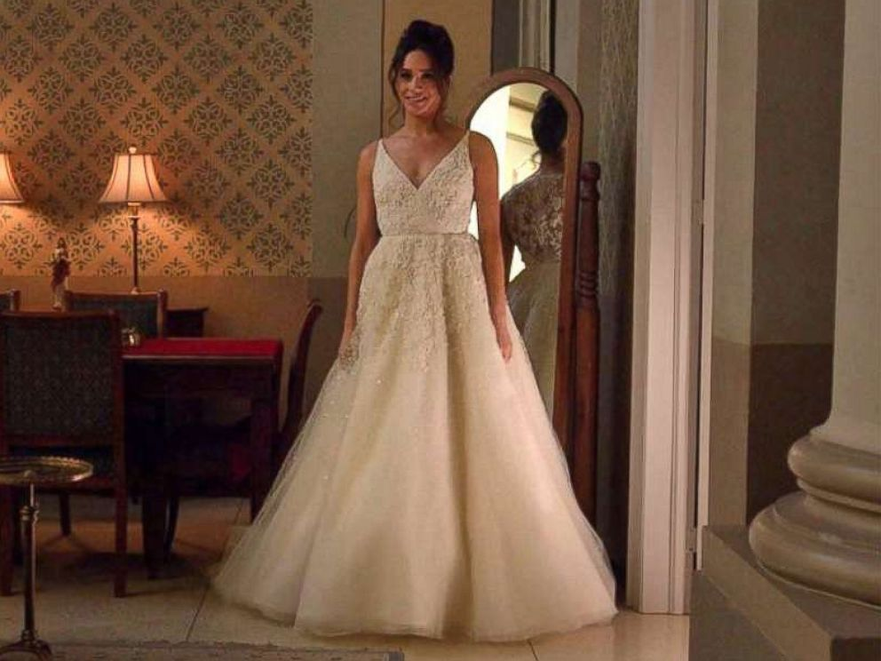 PHOTO: Meghan Markle wears a wedding dress as the character Rachel Zane in Suits.