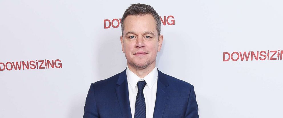 """PHOTO: Matt Damon attends the New York screening of """"Downsizing"""" at AMC Lincoln Square Theater, Dec. 11, 2017 in New York City."""