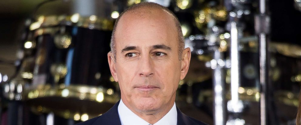 """PHOTO: Matt Lauer attends NBCs """"Today"""" at Rockefeller Plaza in this Sept. 29, 2017 file photo in New York City."""