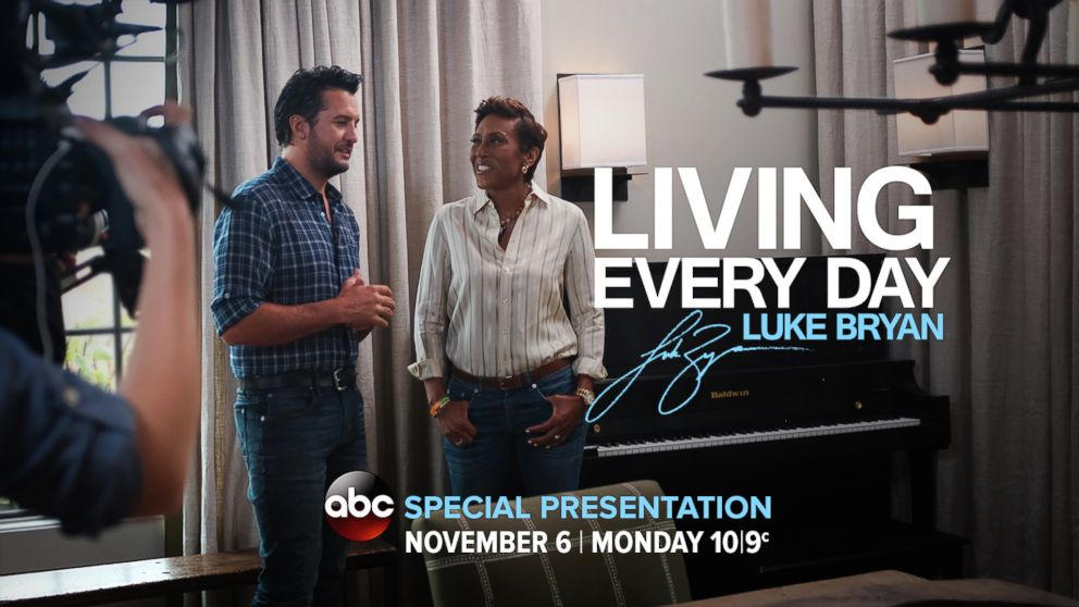 PHOTO: WATCH: Living Every Day: Luke Bryan: A Robin Roberts special presentation, airing Monday, Nov. 6, at 10 ET/9 CT on ABC.