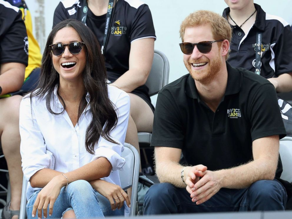 PHOTO: Meghan Markle and Prince Harry attend a Wheelchair Tennis match during the Invictus Games 2017 at Nathan Philips Square, Sept. 25, 2017 in Toronto.