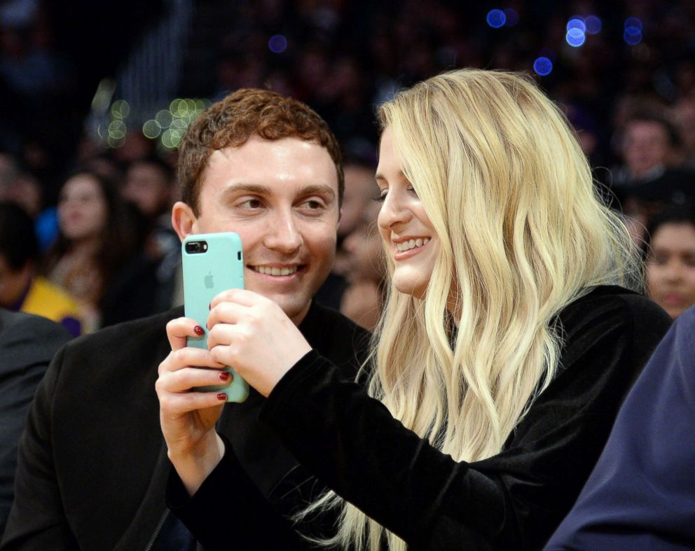PHOTO: Daryl Sabara (L) and Meghan Trainor attend a basketball game between Los Angeles Clippers and Los Angeles Lakers at Staples Center, March 21 2017, in Los Angeles.