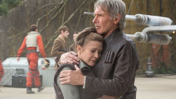 PHOTO: Leia (Carrie Fisher) and Han Solo (Harrison Ford)star in Star Wars: Episode VII - The Force Awakens.