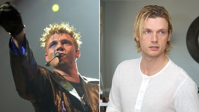 PHOTO:Nick Carter in 2012, right, and in 2001.