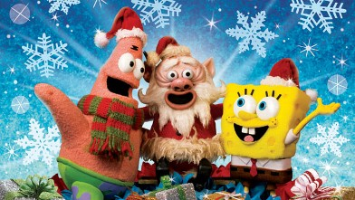 PHOTO: Patrick, Santa Claus and Spongebob Squarepants in &quot;It's A Spongebob Christmas.&quot;