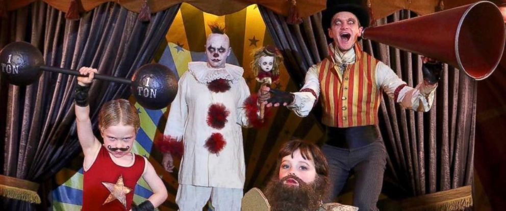 photo neil patrick harris and his family dressed up as a carnival performers