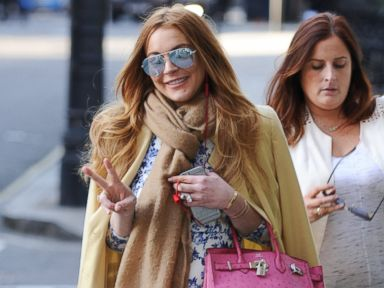 Lindsay Lohan Is Carefree in London