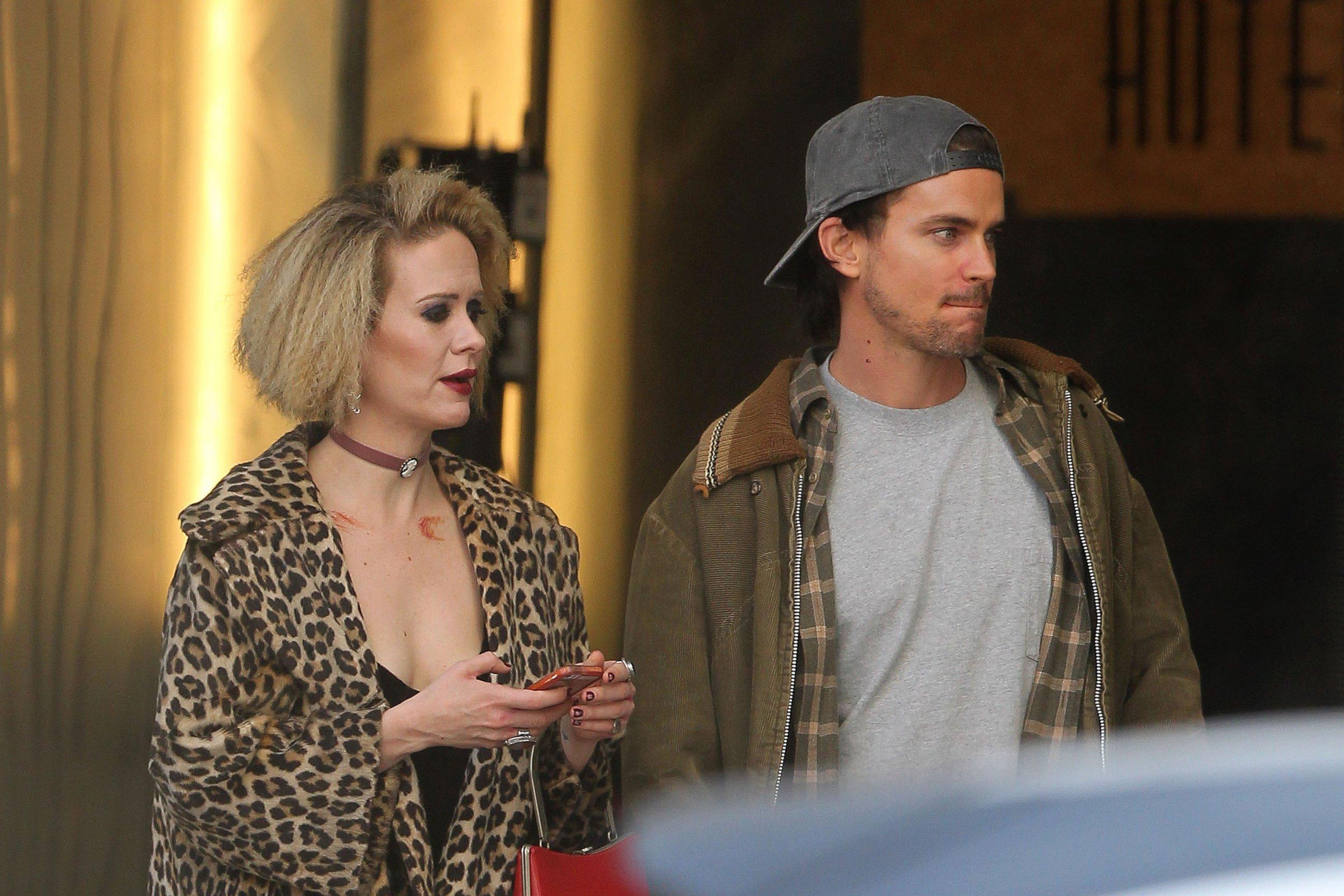 Go On Set of AHS:Hotel with Matt Bomer and Sarah Paulson