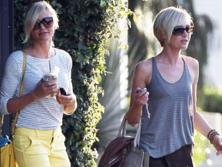 Photos: Cameron Diaz and Portia de Rossi's Salon Date